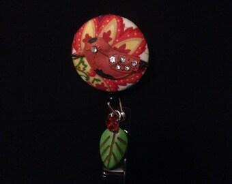 Crimson Canary -Nurse Retractable ID Badge Reel/ RN Badge Holder/Doctor Badge Reel/Nurse Badge Holder/Student Nurse badge reel/ nursing gift