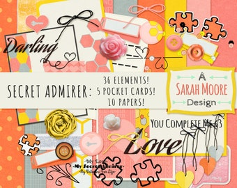 Secret Admirer Digital Scrapbooking Kit