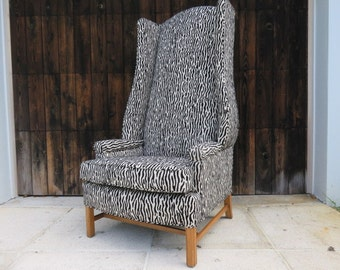 Wingback chair Vintage Etsy UK