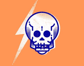 Skull and Lightening Bolt