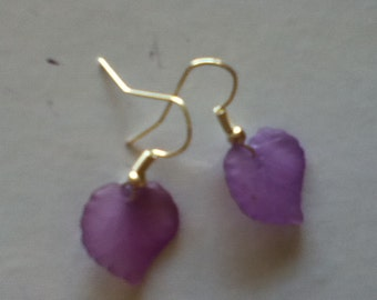 Purple Leaves Earrings