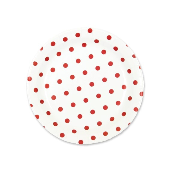 red and white polka dot paper plates Find christmas party plates at the lowest price guaranteed red & white snowflake paper dinner plates in-13667711 large red polka dot paper dessert plates.