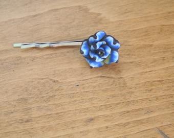 blue flower bobby pin-bobby pin-flower bobby pins
