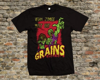 Vegan Zombie T Shirt 100% cotton - 2130