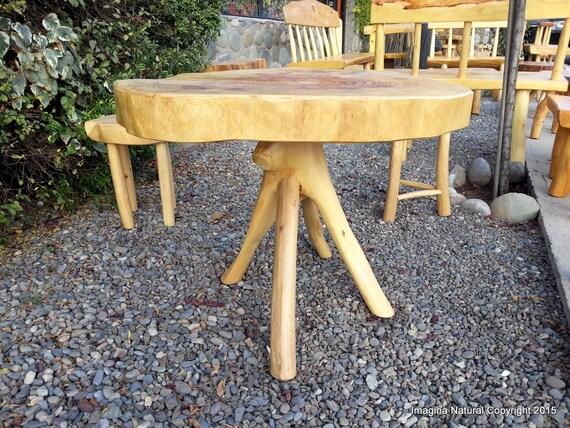 Cypress Handmade Slab Casual Dining Table Log Rustic Chilean Free