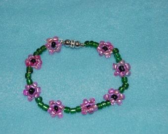 Seed Bead Bracelet-Daisy