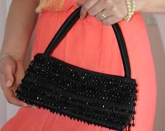 Black bags. Vintage bags  purse. Evening beautiful clutch. 1970s