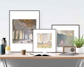 Doggy bundle - 3 x art prints - 19 x 19 cm / 7.5 inch x 7.5 inch