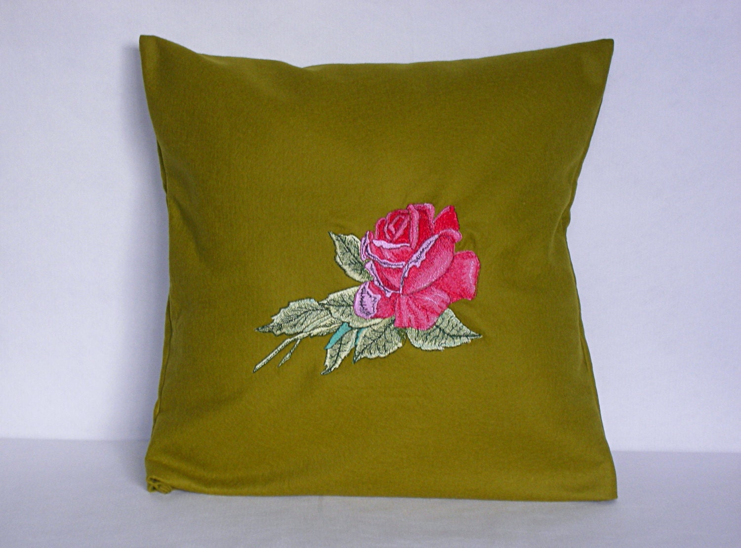 Mustard Throw Pillow Covers : Mustard Green Pillow Cover Throw Pillow 16x16 inch Rustic