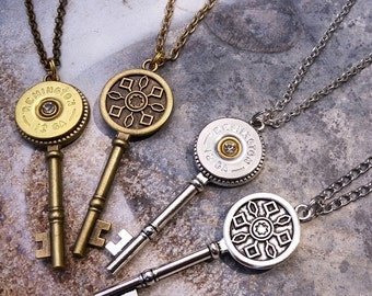 Lock and Load Key Necklace