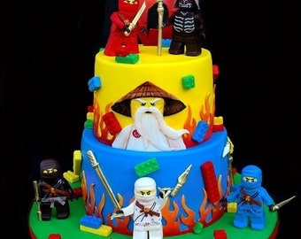 decoration gateau ninjago