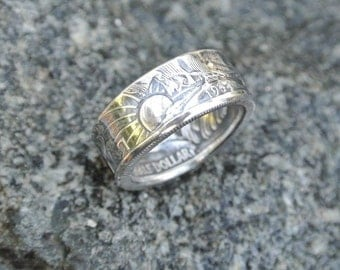 Handmade Walking Liberty Coin Ring