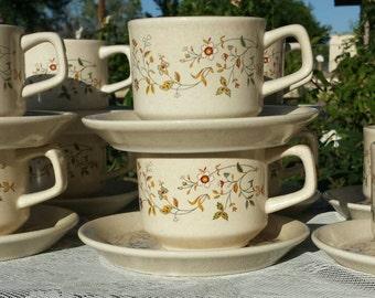 Lenox Temper-ware 20 piece mug/tea set, Merriment design.