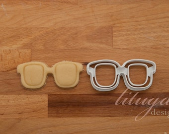 Glasses cookie cutter - Glasses, spectacles, specs