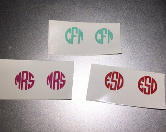 Toenail Monogram Decals