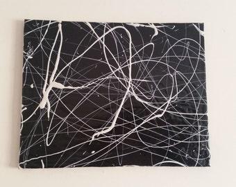White on Black Liquid Canvas