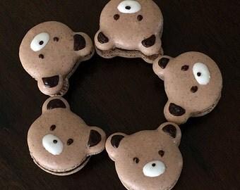 Chocolate Bear Bear Macaron (8 pieces)