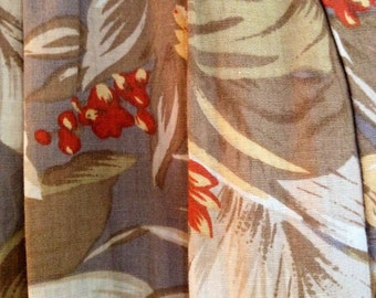 Vintage midi skirt retro floral print