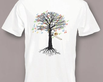 Trombone T-shirt Musical Tree Brass in all sizes
