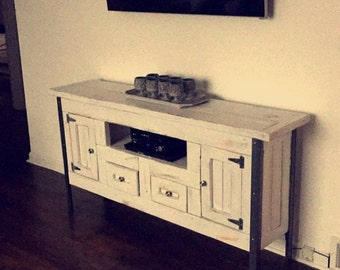Farmhouse Industrial TV Stand