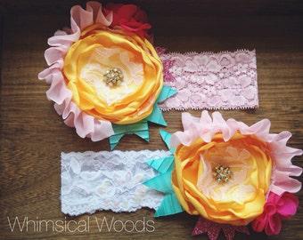 M2M SCB SH Summer Buttons Botanical Headband
