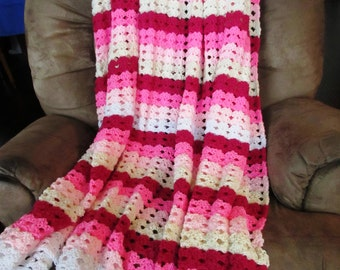 Crochet Pattern, PDF, Shell Stitch Afghan