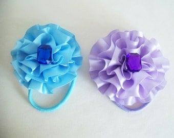 Set of Flower Hair Bows - Hair Accessories Hair Jewelry bows Hair Ties Girls Hair Bows