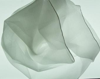 Hemmed Habotai Silk Scarf 15 by 60-Inch 5 mm  Dye and or Nuno Felt
