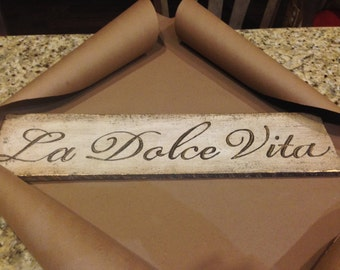 Hand Painted Rustic Italian Sign