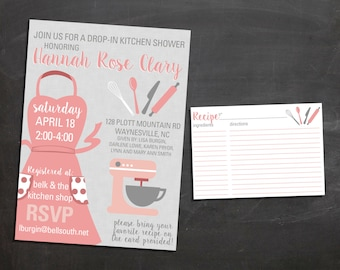 Kitchen Shower Invitation {digital file}