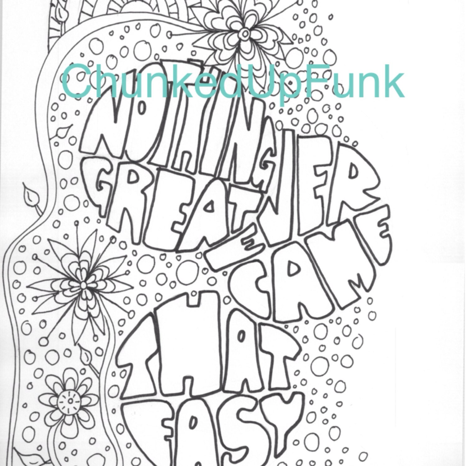 Printable coloring page inspirational art motivational for Inspirational adult coloring pages
