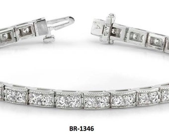 14kt gold Diamond Tennis Bracelet  3.20ct   #BR1346