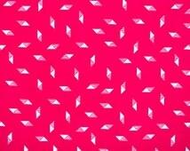 Retro Cerise Pink Geometric Fabric Remnant
