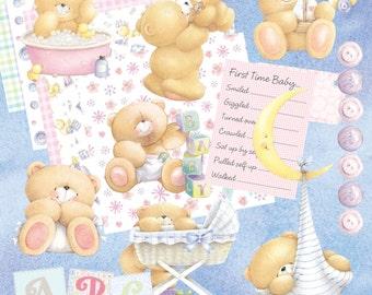 Forever Friends Baby Digital scrapbooking or cardmaking Kit  **Digital download**
