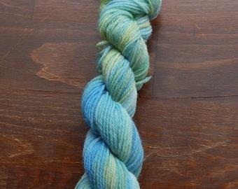 Hand dyed varigated yarn Norwegian Wool