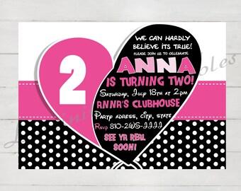 Birthday invitations for girls, Birthday invitation, Invitation printable, First Birthday girl, Birthday invitation template