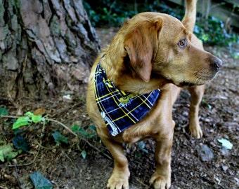 University of Michigan Wolverines Dog Over Collar Bandana, Pet Scarf, Reversible