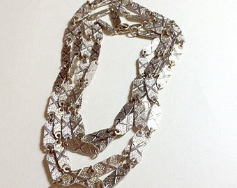 Vintage long gold link necklace X link necklace long gold chain necklace long gold necklace disco necklace 1970s