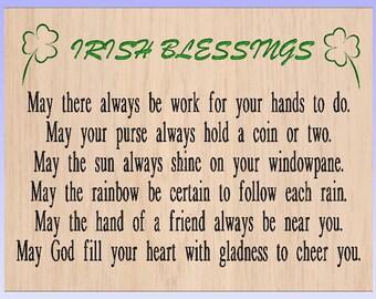Irish blessing sign/ Wooden Irish sign/ Customized color Irish sign/ Cedar Irish blessing