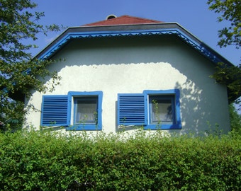 Blue House, original photography: 20 x 30 cm
