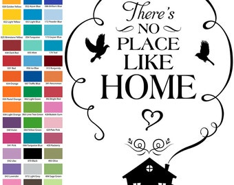 There's No Place Like Home Wall Quote