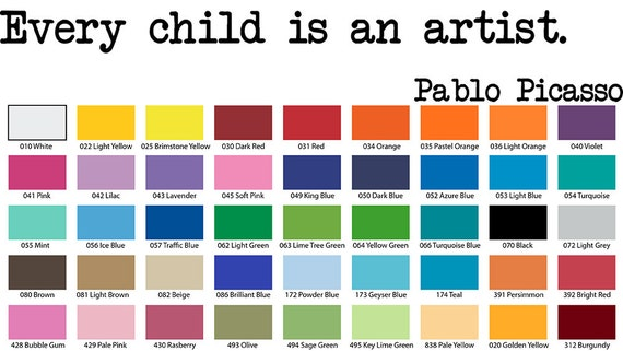 Every Child Is An Artist Pablo Picasso Wall Quote