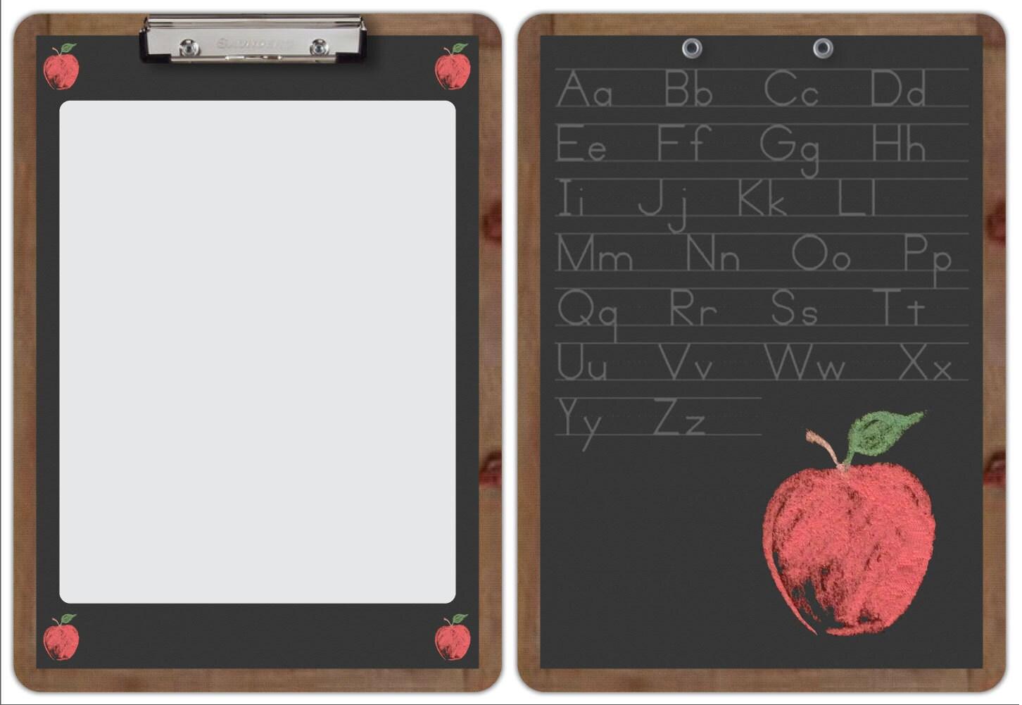 Decorative Clipboard Teacher Chalkboard Apple by DramaDecor