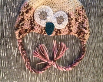 Owl Hat with braids