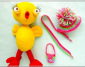 Soft toy chicken pattern Sewing toy pattern Chick stuffed toy pattern Chicken sewing toys patterns Sewing toys How to make chicken soft toys