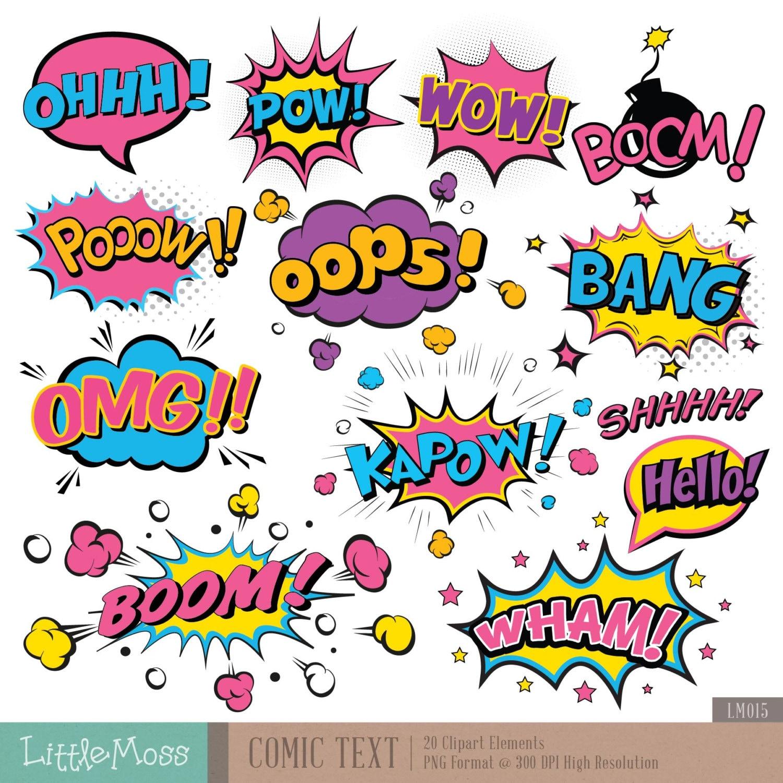 Smack Pop Text Superheroes Pop Art Text