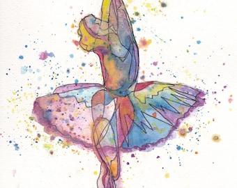 Rainbow Ballerina PRINTS
