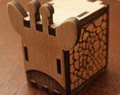 Music box, hand crank interlocking wooden music box, DIY - Great Gift ( Giraffe )