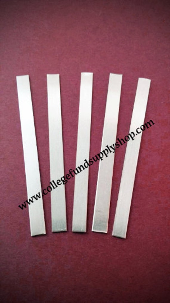 """18g., Aluminum WRAP RING BLANKS, 1/4""""x3"""" 18 gauge, sets of 5, metal supply, jewelry supply, hand stamping, ring making supplies"""
