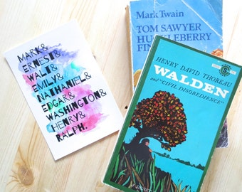 Watercolor Literary Print